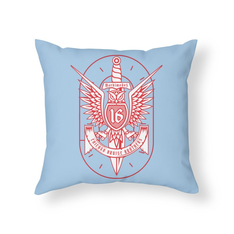 Skater Series: Markimedes Home Throw Pillow by Chicago Bruise Brothers Roller Derby