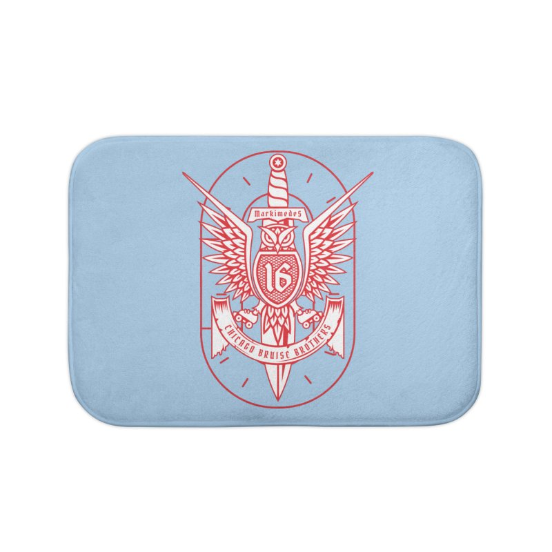 Skater Series: Markimedes Home Bath Mat by Chicago Bruise Brothers Roller Derby