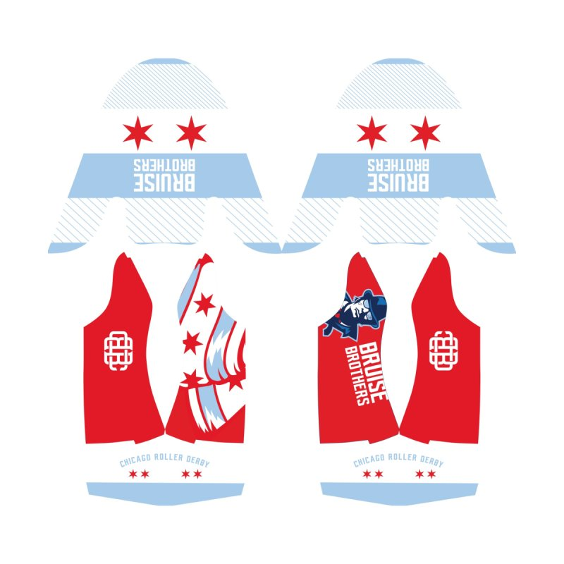 Red Stars, Blue Stripes Women's Shoes by Chicago Bruise Brothers Roller Derby