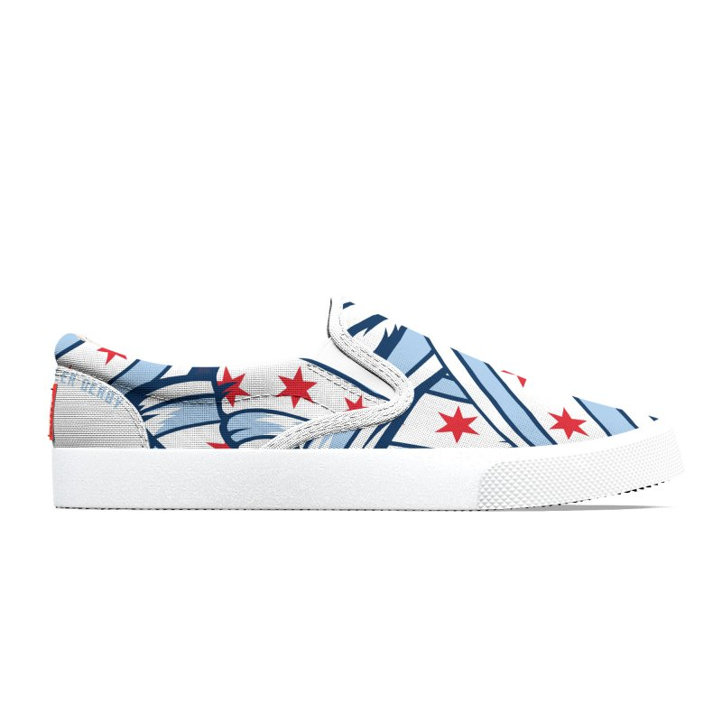 Chicago Flags Men's Shoes by Chicago Bruise Brothers Roller Derby