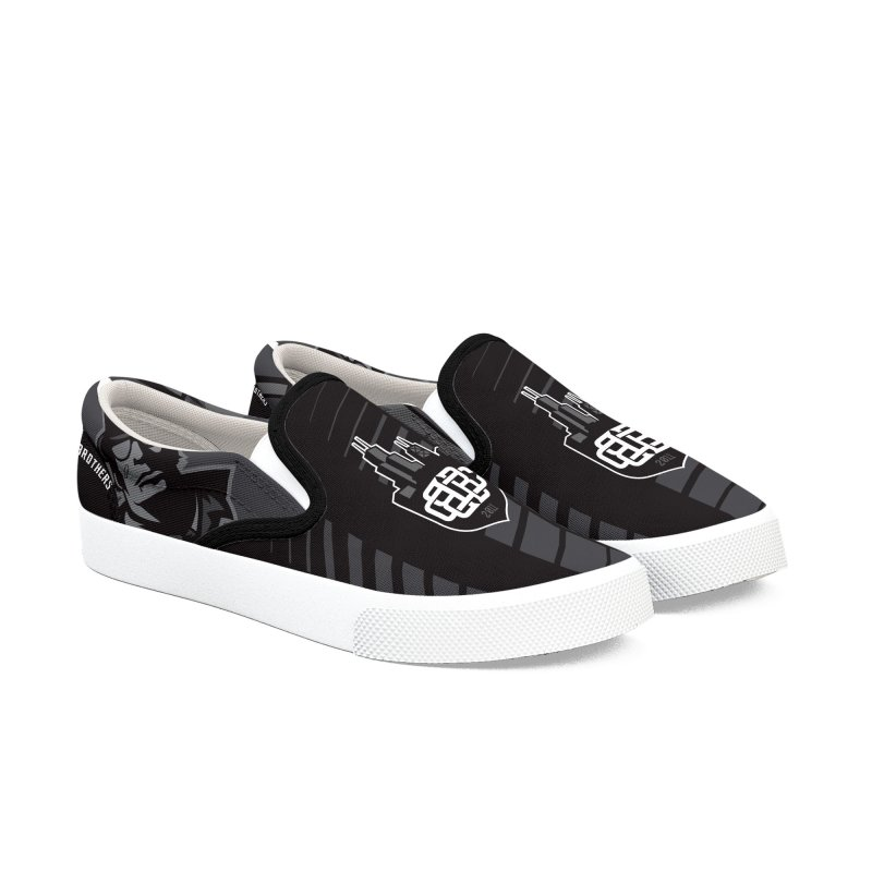 Blackout in Men's Slip-On Shoes by Chicago Bruise Brothers Roller Derby