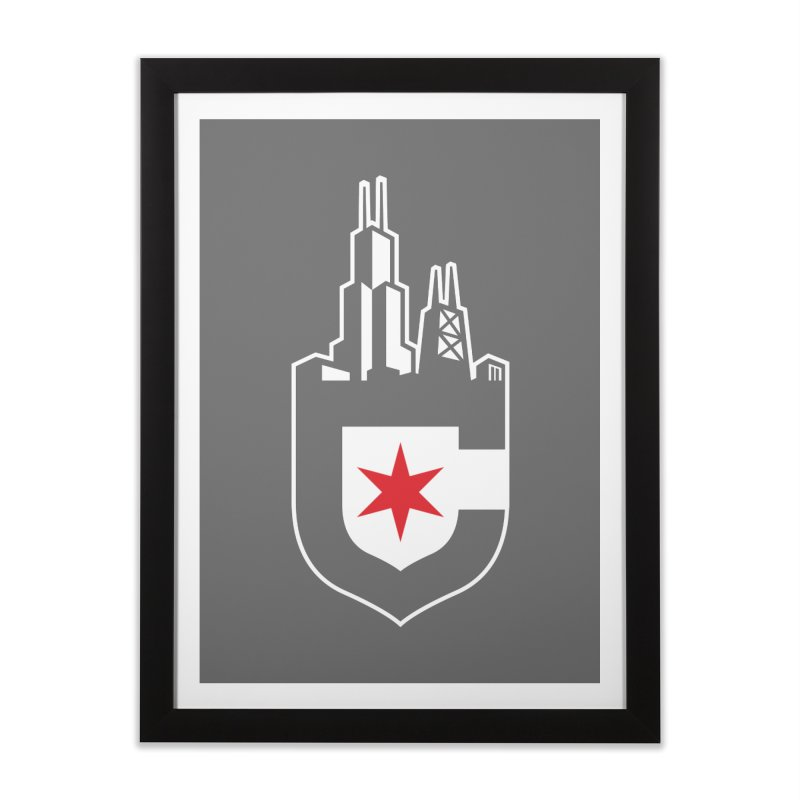 City Shield Home Framed Fine Art Print by Chicago Bruise Brothers Roller Derby