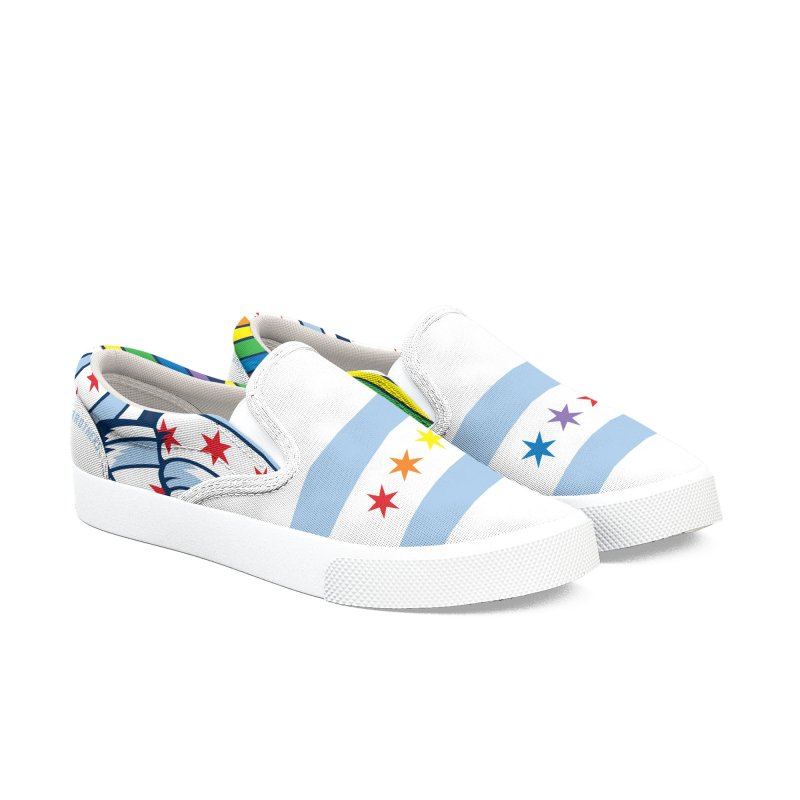Chicago Pride Women's Slip-On Shoes by Chicago Bruise Brothers Roller Derby