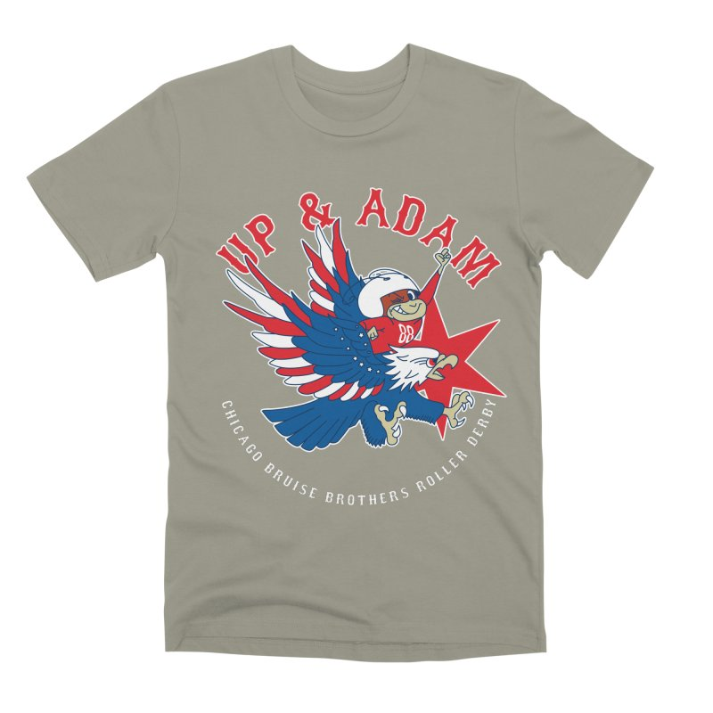 Skater Series: Up & Adam Men's Premium T-Shirt by Chicago Bruise Brothers Roller Derby