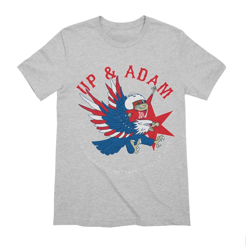 Skater Series: Up & Adam Men's Extra Soft T-Shirt by Chicago Bruise Brothers Roller Derby