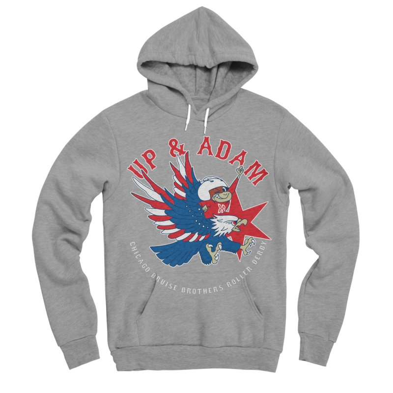 Skater Series: Up & Adam Men's Sponge Fleece Pullover Hoody by Chicago Bruise Brothers Roller Derby