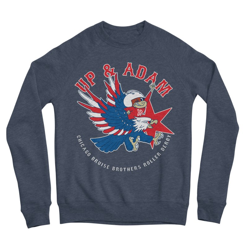 Skater Series: Up & Adam Women's Sponge Fleece Sweatshirt by Chicago Bruise Brothers Roller Derby
