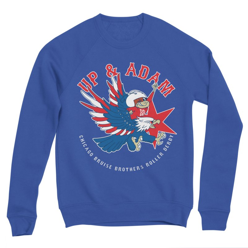 Skater Series: Up & Adam Men's Sponge Fleece Sweatshirt by Chicago Bruise Brothers Roller Derby