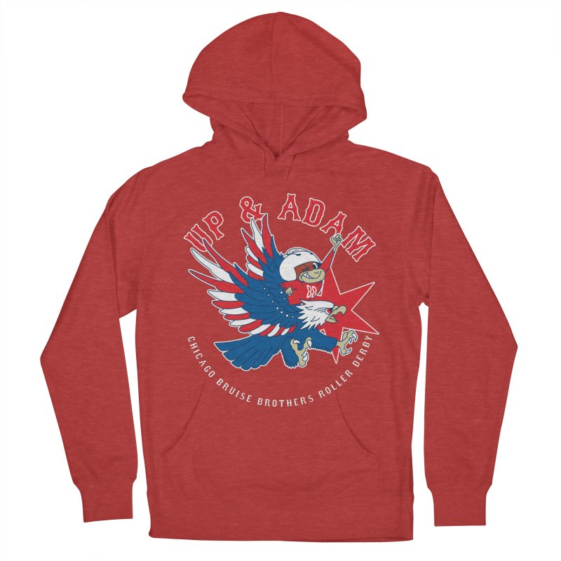 Skater Series: Up & Adam Men's French Terry Pullover Hoody by Chicago Bruise Brothers Roller Derby