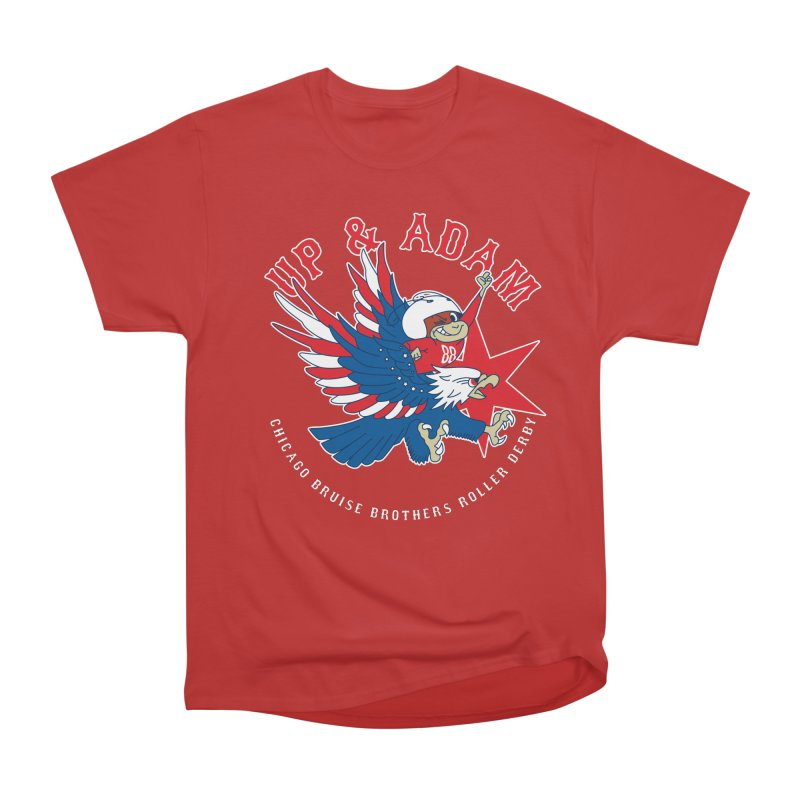 Skater Series: Up & Adam Women's Heavyweight Unisex T-Shirt by Chicago Bruise Brothers Roller Derby