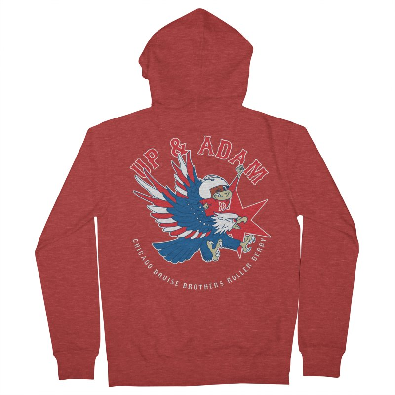 Skater Series: Up & Adam Women's French Terry Zip-Up Hoody by Chicago Bruise Brothers Roller Derby