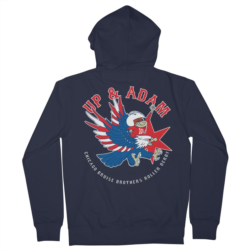 Skater Series: Up & Adam Men's French Terry Zip-Up Hoody by Chicago Bruise Brothers Roller Derby