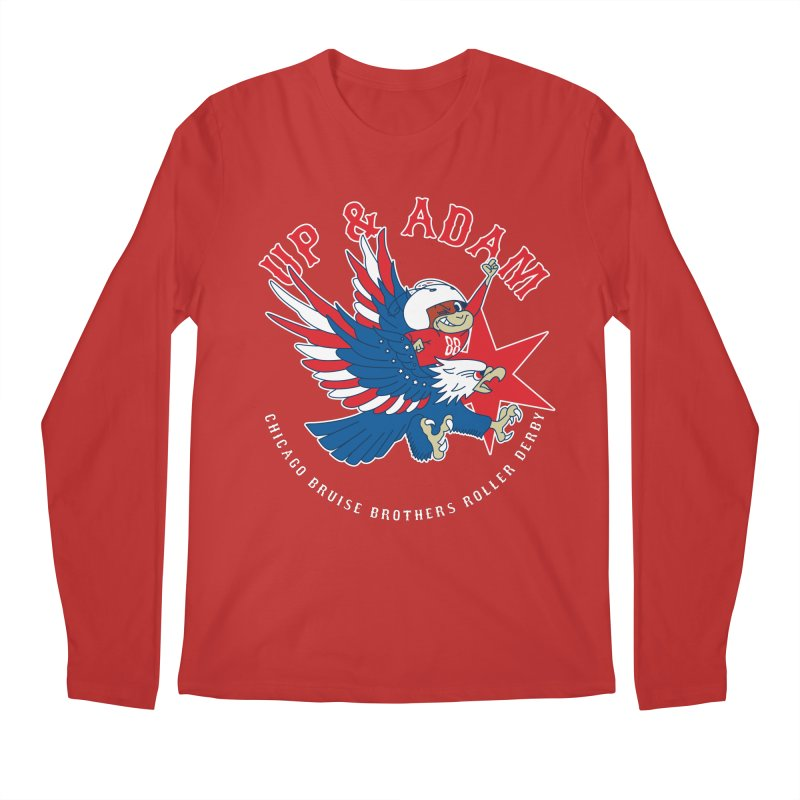 Skater Series: Up & Adam Men's Regular Longsleeve T-Shirt by Chicago Bruise Brothers Roller Derby