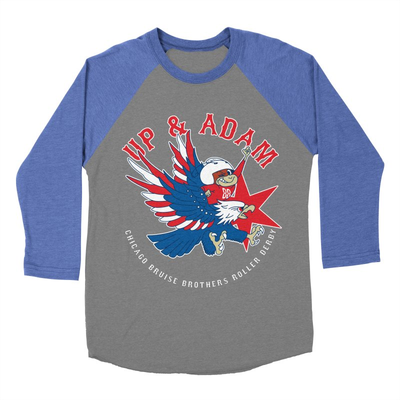 Skater Series: Up & Adam Women's Baseball Triblend Longsleeve T-Shirt by Chicago Bruise Brothers Roller Derby