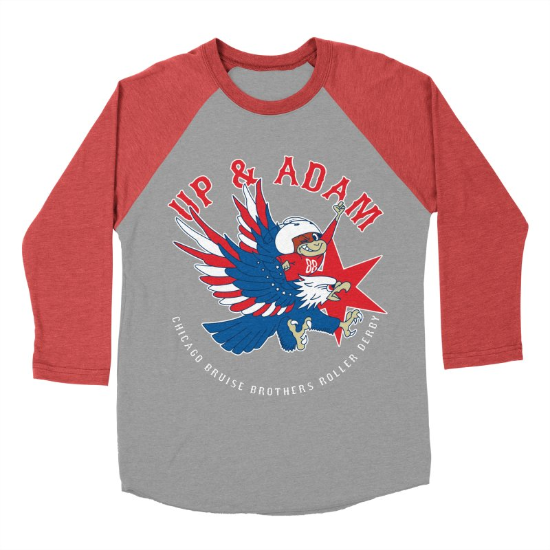 Skater Series: Up & Adam Men's Baseball Triblend Longsleeve T-Shirt by Chicago Bruise Brothers Roller Derby
