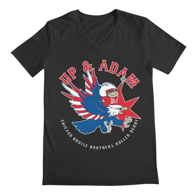Skater Series: Up & Adam Men's Regular V-Neck by Chicago Bruise Brothers Roller Derby