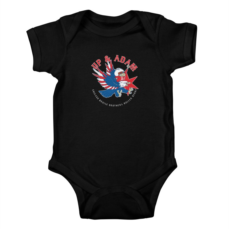 Skater Series: Up & Adam Kids Baby Bodysuit by Chicago Bruise Brothers Roller Derby