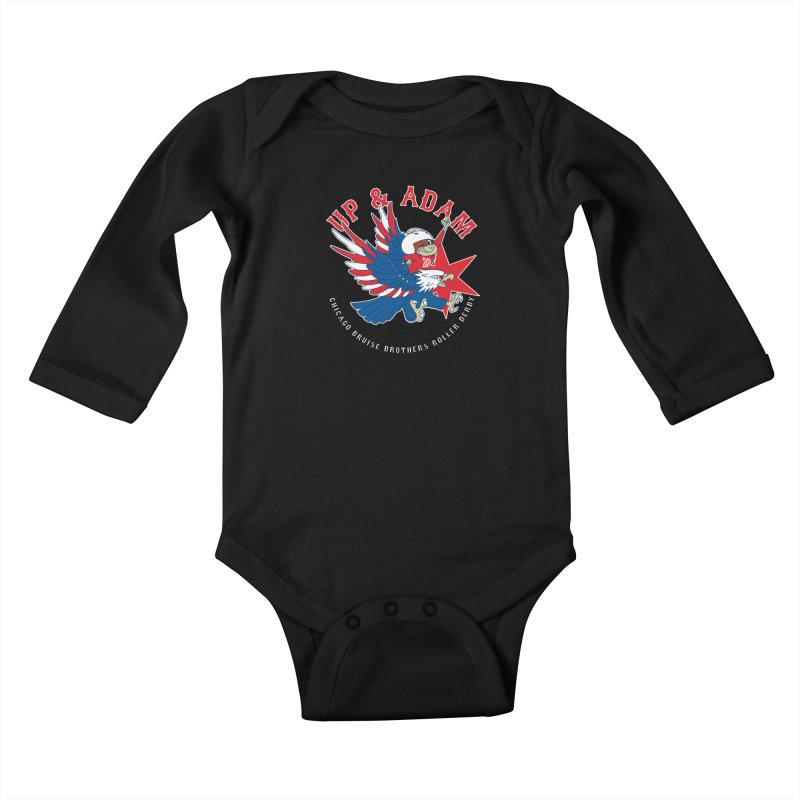 Skater Series: Up & Adam Kids Baby Longsleeve Bodysuit by Chicago Bruise Brothers Roller Derby