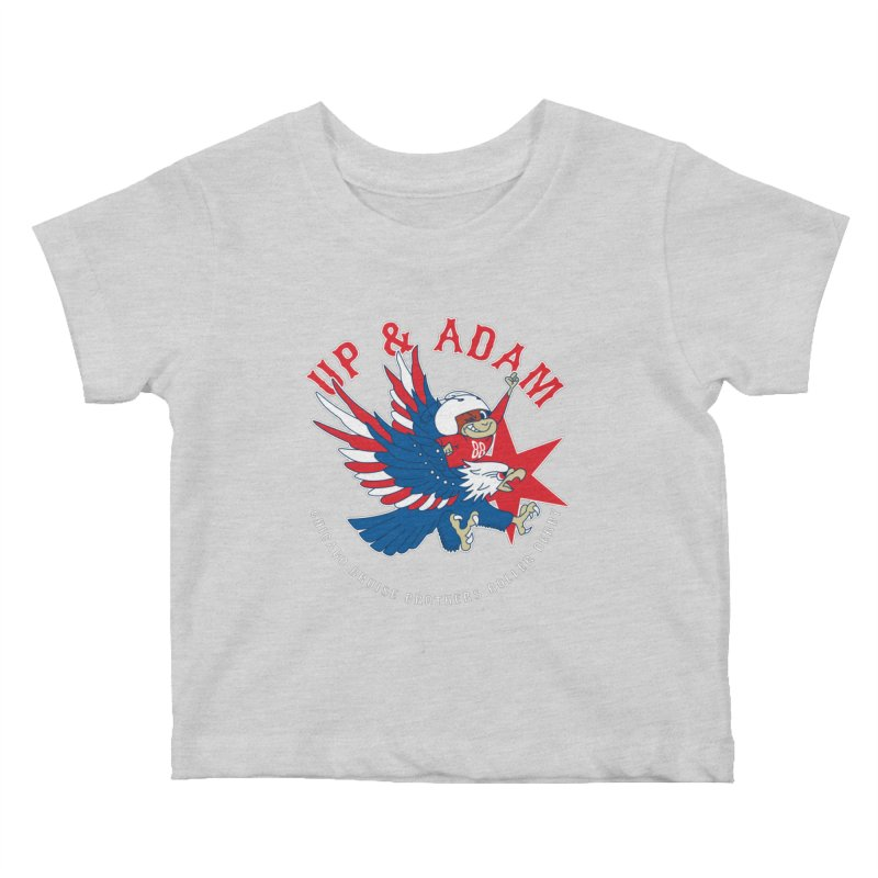 Skater Series: Up & Adam Kids Baby T-Shirt by Chicago Bruise Brothers Roller Derby