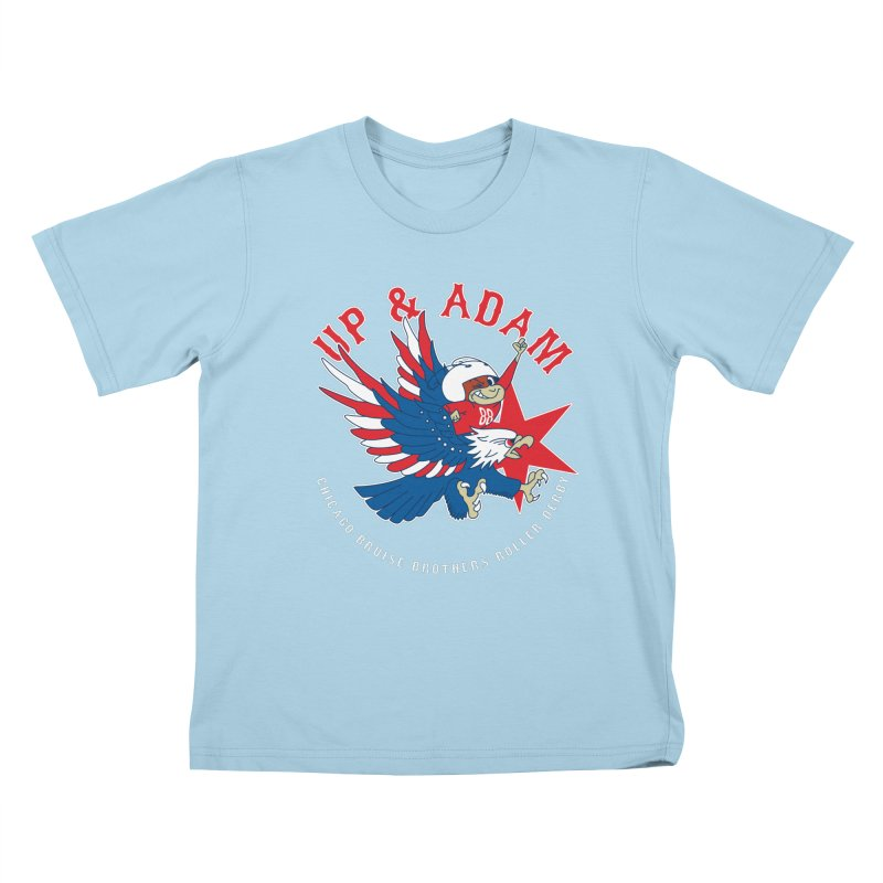 Skater Series: Up & Adam Kids T-Shirt by Chicago Bruise Brothers Roller Derby