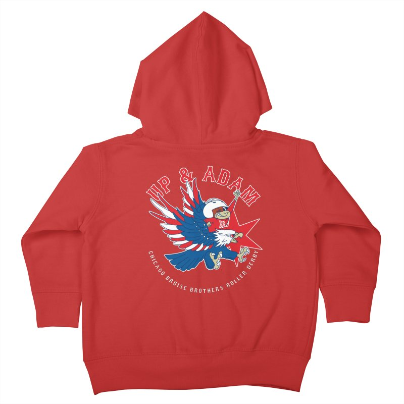 Skater Series: Up & Adam Kids Toddler Zip-Up Hoody by Chicago Bruise Brothers Roller Derby