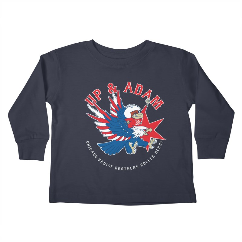 Skater Series: Up & Adam Kids Toddler Longsleeve T-Shirt by Chicago Bruise Brothers Roller Derby