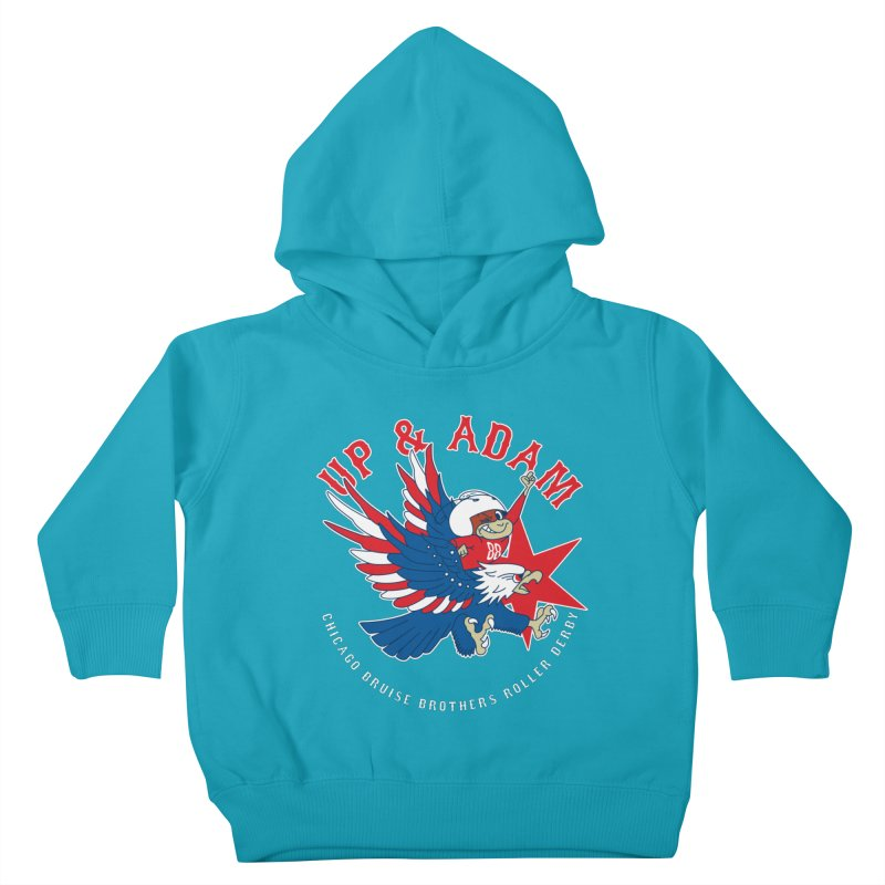 Skater Series: Up & Adam Kids Toddler Pullover Hoody by Chicago Bruise Brothers Roller Derby