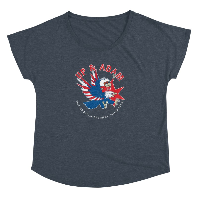 Skater Series: Up & Adam Women's Dolman Scoop Neck by Chicago Bruise Brothers Roller Derby