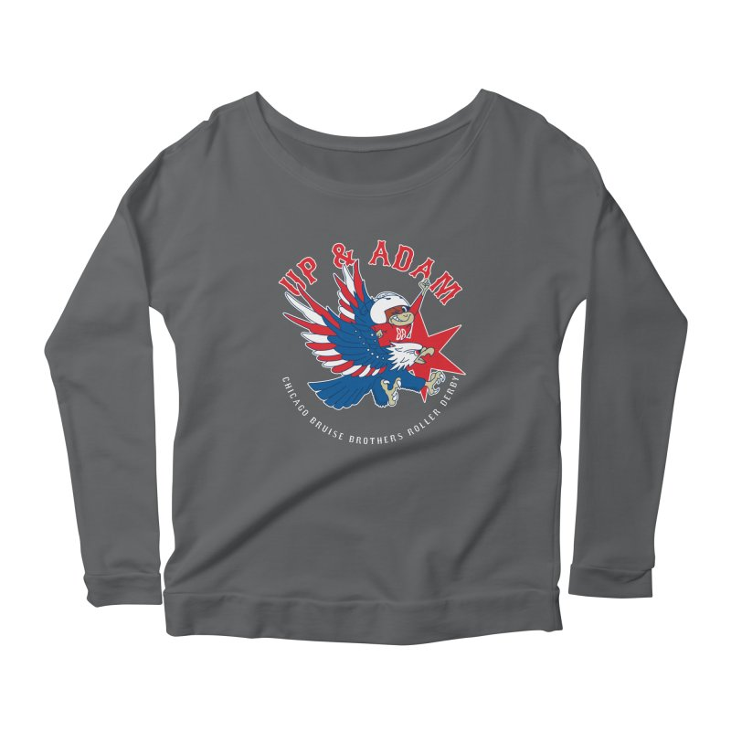 Skater Series: Up & Adam Women's Scoop Neck Longsleeve T-Shirt by Chicago Bruise Brothers Roller Derby