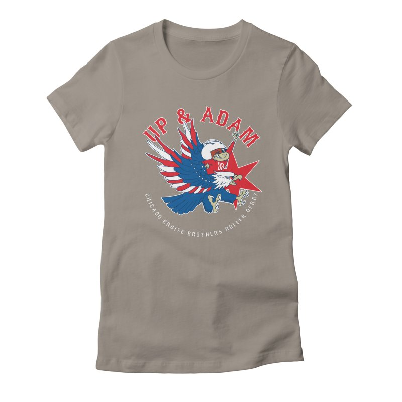 Skater Series: Up & Adam Women's Fitted T-Shirt by Chicago Bruise Brothers Roller Derby