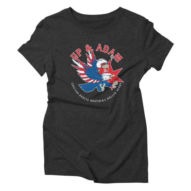 Skater Series: Up & Adam Women's Triblend T-Shirt by Chicago Bruise Brothers Roller Derby