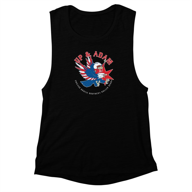 Skater Series: Up & Adam Women's Muscle Tank by Chicago Bruise Brothers Roller Derby