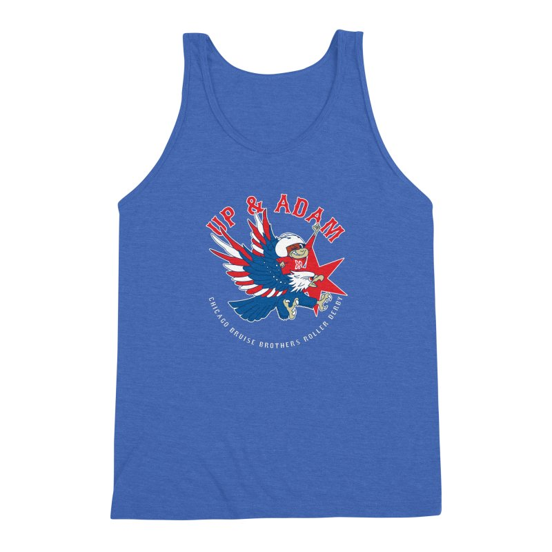 Skater Series: Up & Adam Men's Triblend Tank by Chicago Bruise Brothers Roller Derby