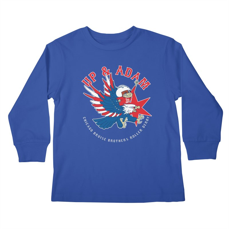 Skater Series: Up & Adam Kids Longsleeve T-Shirt by Chicago Bruise Brothers Roller Derby