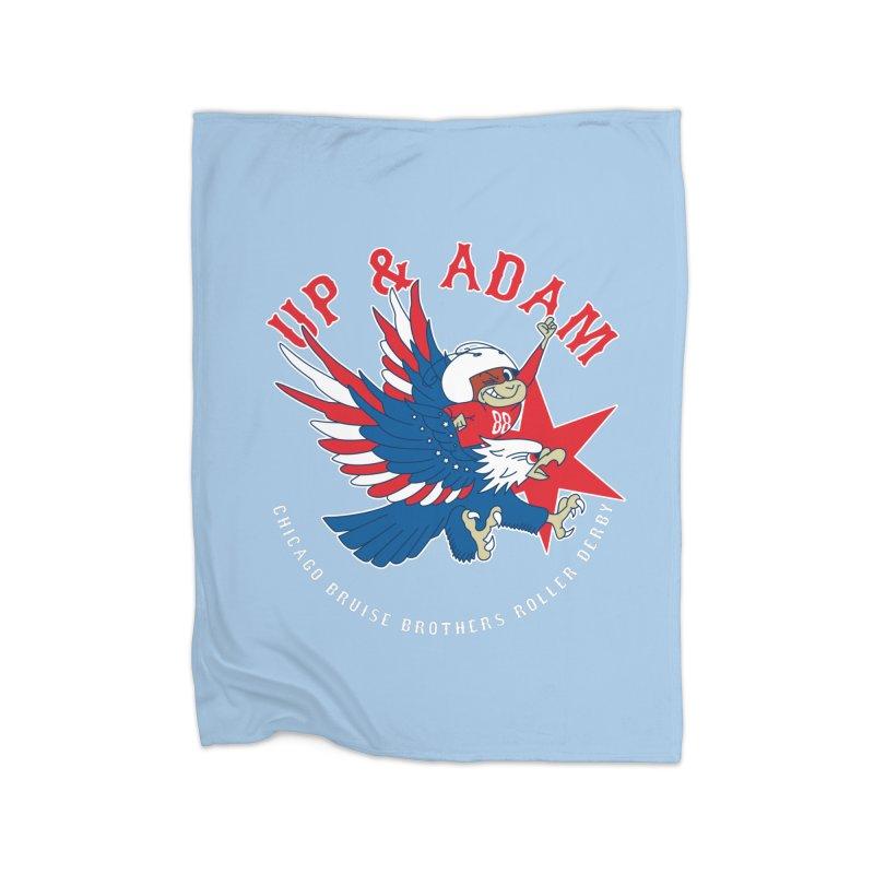 Skater Series: Up & Adam Home Fleece Blanket Blanket by Chicago Bruise Brothers Roller Derby