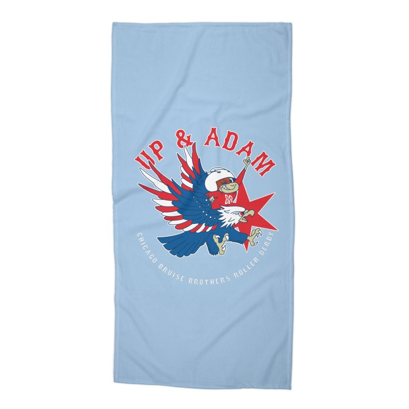 Skater Series: Up & Adam Accessories Beach Towel by Chicago Bruise Brothers Roller Derby