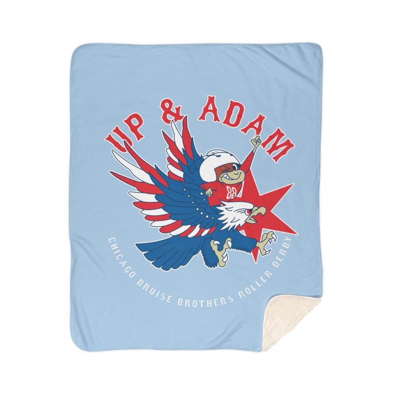Skater Series: Up & Adam Home Sherpa Blanket Blanket by Chicago Bruise Brothers Roller Derby