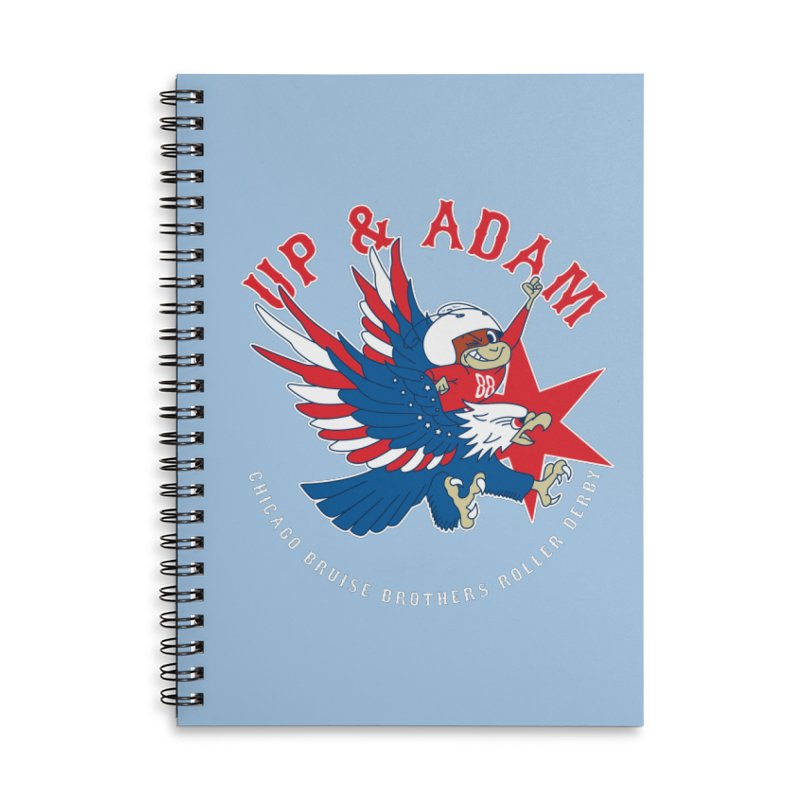 Skater Series: Up & Adam Accessories Lined Spiral Notebook by Chicago Bruise Brothers Roller Derby