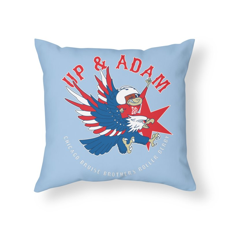Skater Series: Up & Adam Home Throw Pillow by Chicago Bruise Brothers Roller Derby