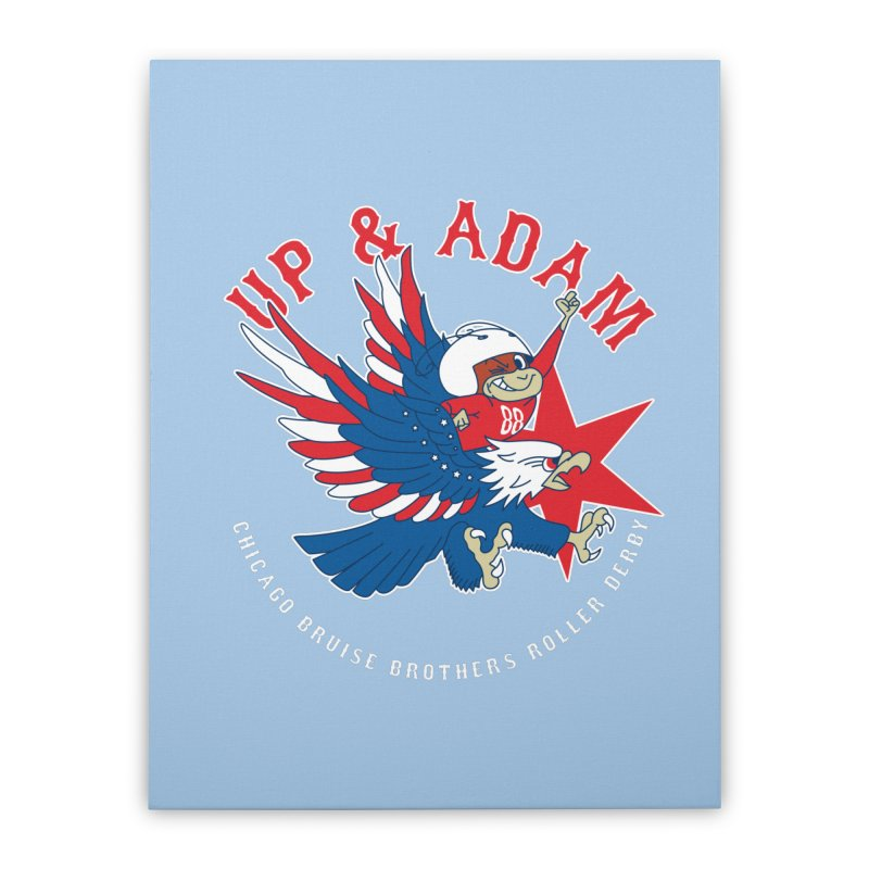 Skater Series: Up & Adam Home Stretched Canvas by Chicago Bruise Brothers Roller Derby