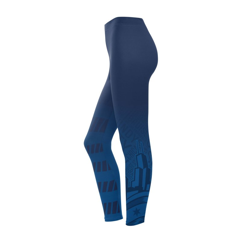 Leggings: cityscape Women's Bottoms by Chicago Bruise Brothers Roller Derby
