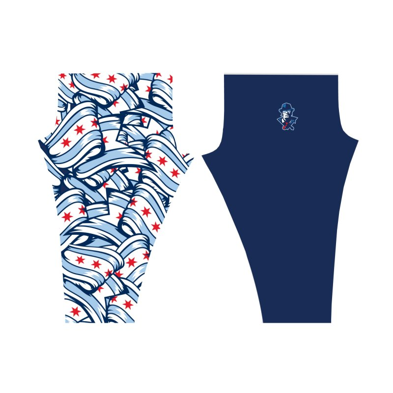 Leggings: Flag Women's Bottoms by Chicago Bruise Brothers Roller Derby