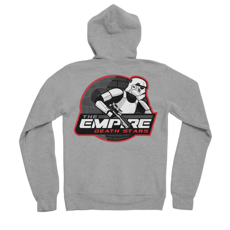The Empire Death Stars Women's Sponge Fleece Zip-Up Hoody by Chicago Bruise Brothers Roller Derby