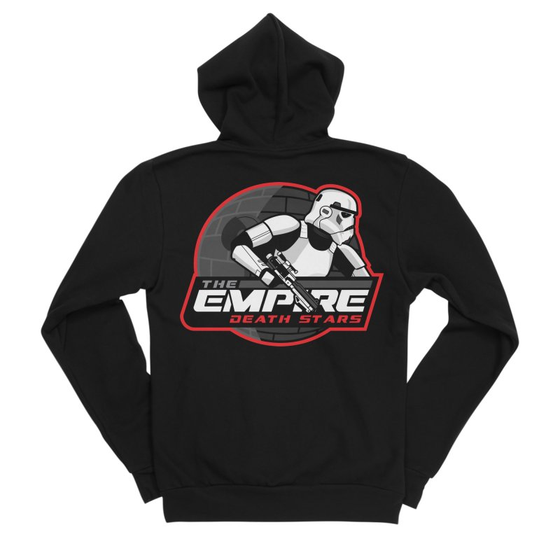 The Empire Death Stars Men's Sponge Fleece Zip-Up Hoody by Chicago Bruise Brothers Roller Derby