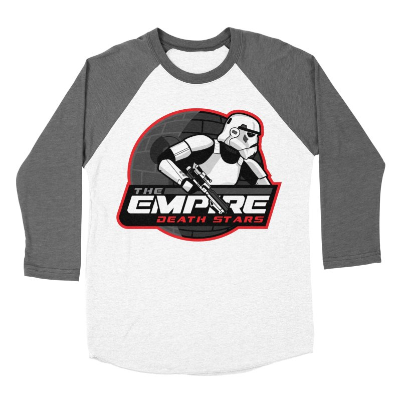 The Empire Death Stars Women's Baseball Triblend Longsleeve T-Shirt by Chicago Bruise Brothers Roller Derby