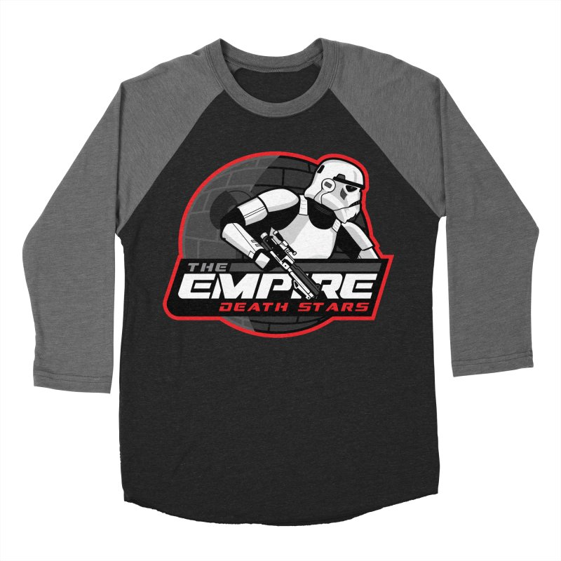 The Empire Death Stars Men's Baseball Triblend Longsleeve T-Shirt by Chicago Bruise Brothers Roller Derby