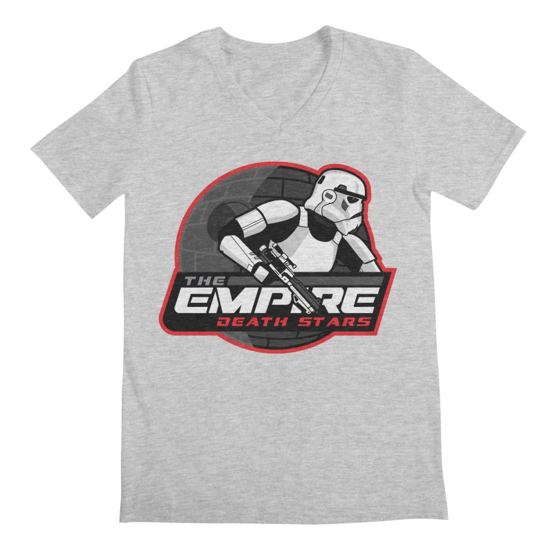 The Empire Death Stars Men's Regular V-Neck by Chicago Bruise Brothers Roller Derby