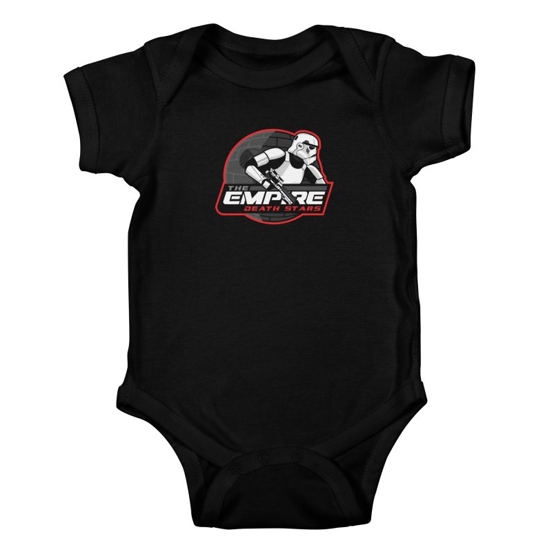 The Empire Death Stars Kids Baby Bodysuit by Chicago Bruise Brothers Roller Derby