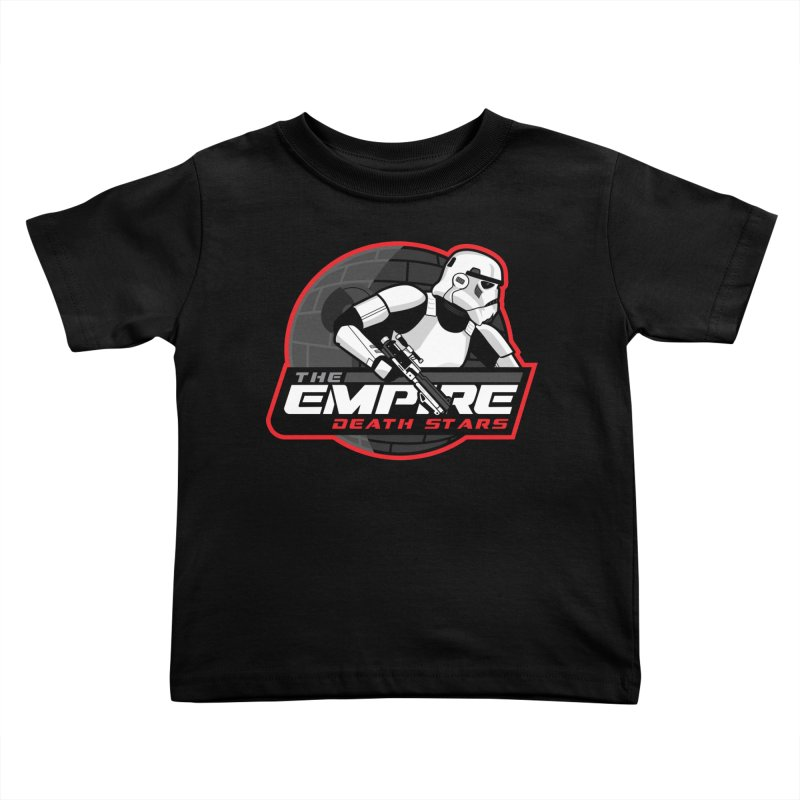 The Empire Death Stars Kids Toddler T-Shirt by Chicago Bruise Brothers Roller Derby