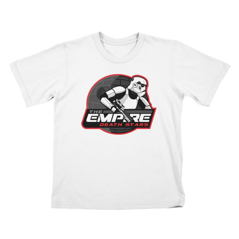 The Empire Death Stars Kids T-Shirt by Chicago Bruise Brothers Roller Derby